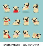 vector illustration set of cute ... | Shutterstock .eps vector #1024549945