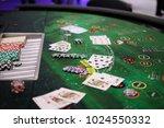 casino games   poker  blackjack ... | Shutterstock . vector #1024550332