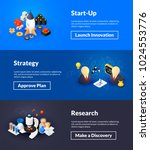 startup strategy and research... | Shutterstock .eps vector #1024553776