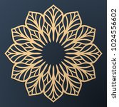 laser cutting mandala. golden... | Shutterstock .eps vector #1024556602