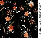 trendy  floral pattern in the... | Shutterstock .eps vector #1024558642