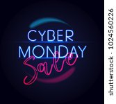 cyber monday concept banner in... | Shutterstock .eps vector #1024560226