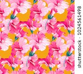 seamless pattern with tropical... | Shutterstock .eps vector #1024561498