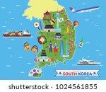 modern south korea famous... | Shutterstock .eps vector #1024561855