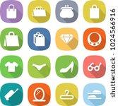 flat vector icon set   shopping ... | Shutterstock .eps vector #1024566916