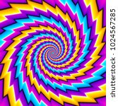 twisted colorful spirals.... | Shutterstock .eps vector #1024567285