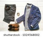 top view of classical men s... | Shutterstock . vector #1024568002
