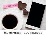 smart phone and reminder notice ... | Shutterstock . vector #1024568938
