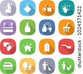 flat vector icon set   cleanser ... | Shutterstock .eps vector #1024571422