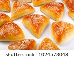brazilian snack  arabic esfiha | Shutterstock . vector #1024573048