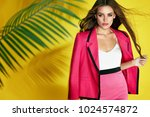 summer fashion look. woman in... | Shutterstock . vector #1024574872