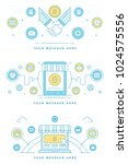 blockchain concept finance... | Shutterstock .eps vector #1024575556