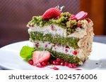 fancy dessert served | Shutterstock . vector #1024576006