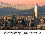 santiago  region metropolitana  ... | Shutterstock . vector #1024579585