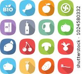 flat vector icon set   bio... | Shutterstock .eps vector #1024580332