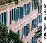 european style windows with... | Shutterstock . vector #1024582105
