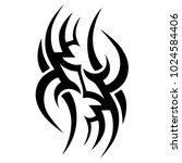 tattoo tribal vector design. | Shutterstock .eps vector #1024584406