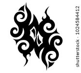 tattoo tribal vector design.... | Shutterstock .eps vector #1024584412