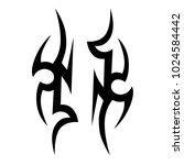tattoo tribal vector design.... | Shutterstock .eps vector #1024584442