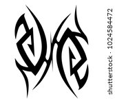tattoo tribal vector design. | Shutterstock .eps vector #1024584472