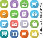 flat vector icon set   basket... | Shutterstock .eps vector #1024586206