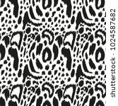seamless pattern with leopard... | Shutterstock .eps vector #1024587682