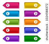 set of web buttons with arrows  ... | Shutterstock .eps vector #1024588372