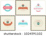 happy birthday greeting cards... | Shutterstock .eps vector #1024591102