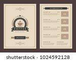 coffee shop logo and menu...   Shutterstock .eps vector #1024592128