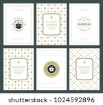 happy birthday greeting cards...   Shutterstock .eps vector #1024592896
