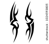 tribal pattern tattoo vector... | Shutterstock .eps vector #1024593805