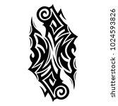 tattoo tribal vector design. | Shutterstock .eps vector #1024593826
