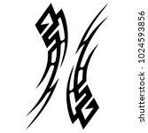 tattoo tribal vector design. | Shutterstock .eps vector #1024593856