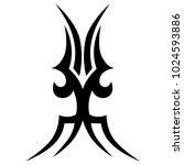 tattoo tribal vector design.... | Shutterstock .eps vector #1024593886