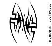 tattoo tribal vector design.... | Shutterstock .eps vector #1024593892