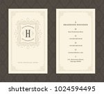 luxury business card and...   Shutterstock .eps vector #1024594495