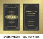 luxury business card and golden ... | Shutterstock .eps vector #1024595206