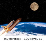 Rocket From Earth Flying To Th...