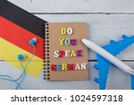 concept of learning german... | Shutterstock . vector #1024597318