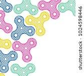 hand fidget spinner background. ...   Shutterstock .eps vector #1024598446