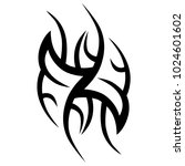 tattoo tribal vector design.... | Shutterstock .eps vector #1024601602