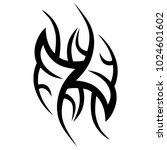 tattoo tribal vector design. | Shutterstock .eps vector #1024601602