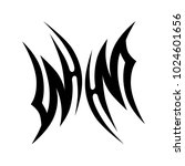 tattoo tribal vector design. | Shutterstock .eps vector #1024601656