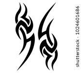 tattoo tribal vector design. | Shutterstock .eps vector #1024601686