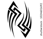 tattoo tribal vector design.... | Shutterstock .eps vector #1024601692