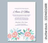 wedding invitation template... | Shutterstock .eps vector #1024602688