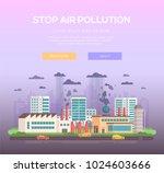 stop air pollution   modern... | Shutterstock .eps vector #1024603666