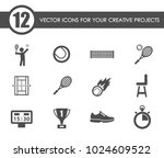 tennis vector icons for your...