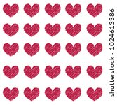 Vector Pattern Of Vinous Heart...