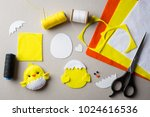 cut out details chicken toy.... | Shutterstock . vector #1024616536